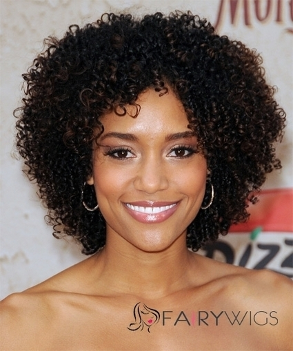 Dainty Short Curly Sepia African American Lace Wigs for Women : fairywigs.com | African American Wigs | Scoop.it