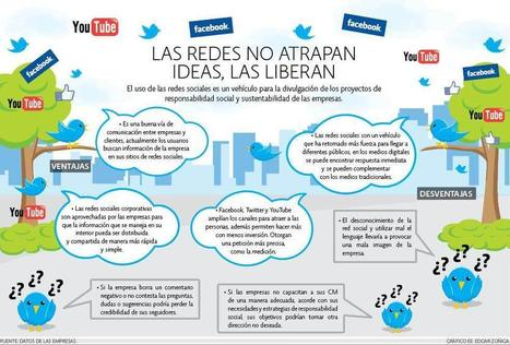Las Redes Sociales no atrapan las ideas: las liberan #infografia #infographic #socialmedia | Seo, Social Media Marketing | Scoop.it