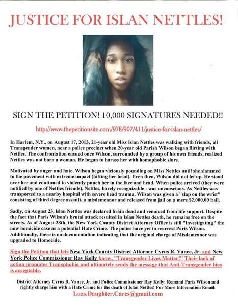 Justice for Islan Nettles -.. | SocialAction2014 | Scoop.it
