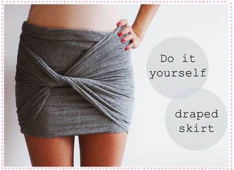 DIY Guide – Draped Skirt | Fashion N Style | Scoop.it