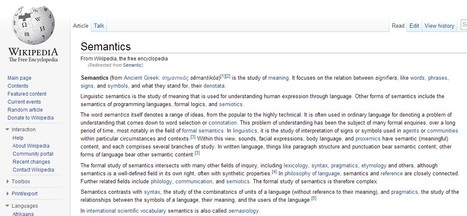 Semantics - Wikipedia | Better teaching, more learning | Scoop.it