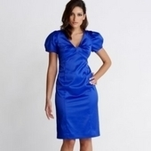 Blue satin puff sleeve shift dress - Just Be Fancy | Online Clothing for Women | Scoop.it