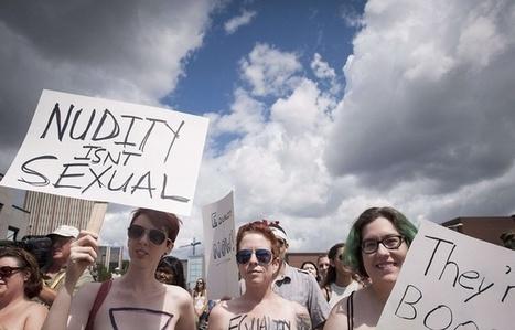 VIDEO. Canada: Manifestation pour défendre le droit de se promener seins nus | KILUVU | Scoop.it