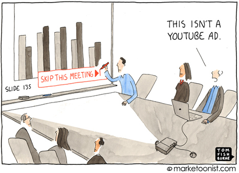 """Skip This Ad"" cartoon from Tom Fishburne: Tell a story or else! 