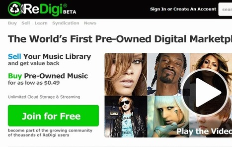 Should Reselling MP3s Be Legal? ReDigi Says 'Yes' | Politics, Technology, Law | Scoop.it