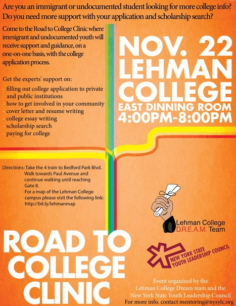 Road To College Clinic Nov 22 » New York State Youth Leadership Council | Working on a dream | Scoop.it