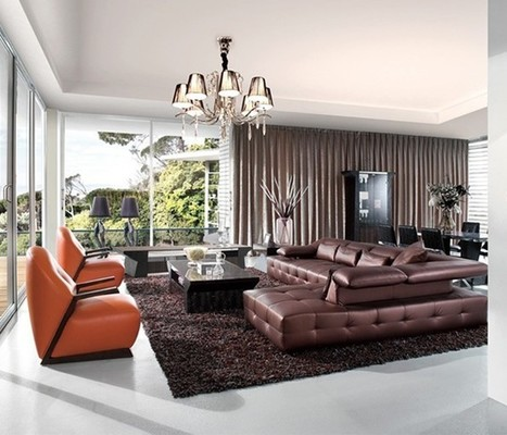 Contrasting Contemporary Leather Sofa Sets | MeublesBH | Scoop.it
