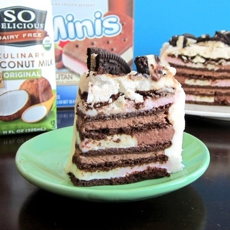 Vegan Ice Cream Sandwich Cake with Vanilla and Chocolate Whipped Cream | My Vegan recipes | Scoop.it