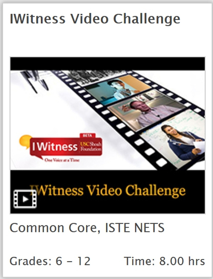 USC Shoah Foundation: Video Challenge for Grades 6-12 | ETCJournal.com | Holocaust | Scoop.it