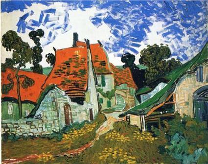 Street in Auvers-sur-Oise 1890 by Van Gogh   Van gogh Replica Paintings for Sale   Scoop.it