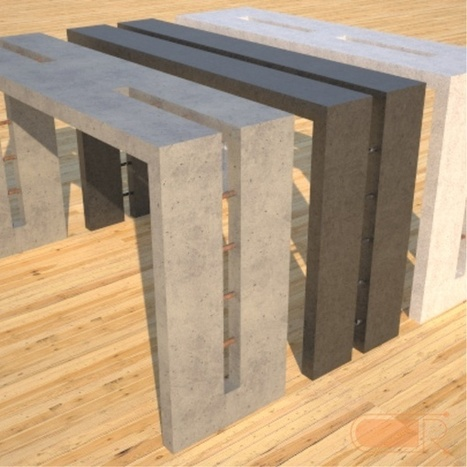 Concrete Console Table | Contemporary Furniture Designs by Rudy | Beton - Concrete | Scoop.it
