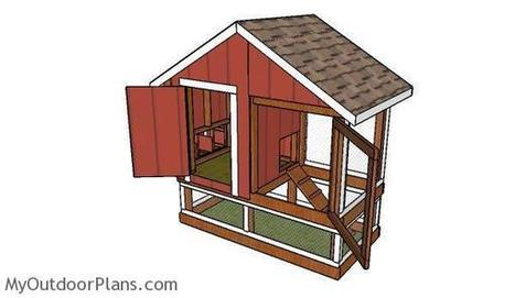 4x8 Chicken Coop Plans | MyOutdoorPlans | Free Woodworking Plans and Projects, DIY Shed, Wooden Playhouse, Pergola, Bbq | Garden Plans | Scoop.it