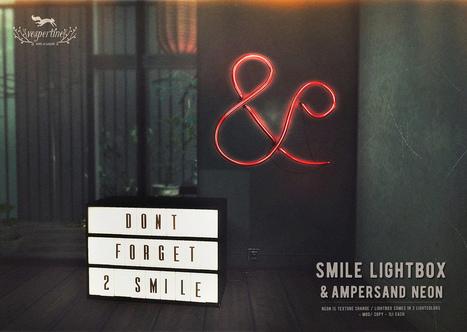 smile lightbox + ampersand neon | 亗 Second Life Freebies Addiction & More 亗 | Scoop.it