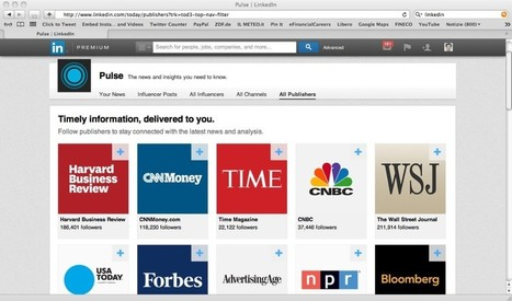 LinkedIn integra le personal-news di Pulse | Socially | Scoop.it