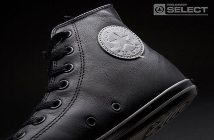 Black Chuck Taylor All Star Slim Leather Trainer for Men | Life Chucks! | Chuck Taylor | Scoop.it