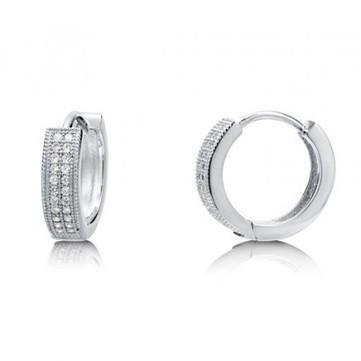 Sterling Silver Hoop Earrings for Women, Cubic Zirconia Huggie Earrings | fashion dresses and  jewelry | Scoop.it