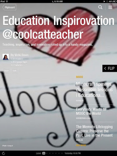 Flipboard Magazines make curation for your classes EASY - CoolCatTeacher | iPads in Education | Scoop.it