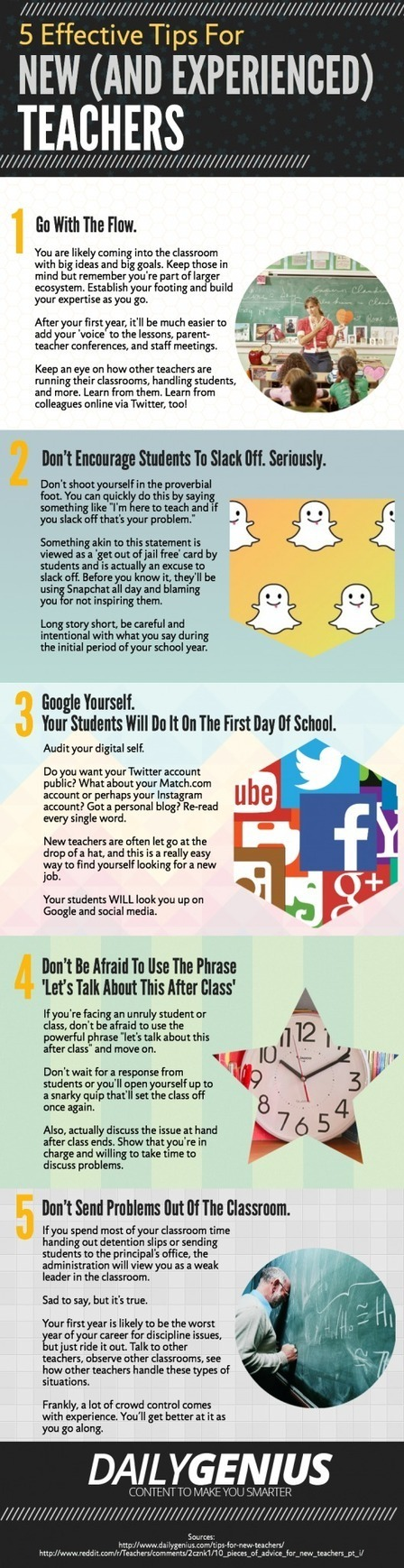 5 Tips for New Teachers Infographic | Fun Lessons for Teaching English | Scoop.it