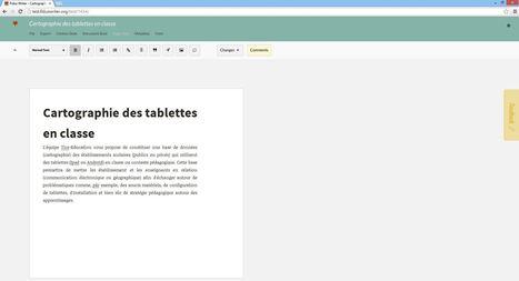 Fidus Writer : un traitement de texte collaboratif en ligne pour l'enseignement supérieur | TICE et formation FOS | Scoop.it