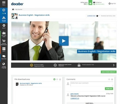 New Docebo Learning Management System - Tablet friendly, easy to use Online Training platform | Library Instruction & Technology | Scoop.it