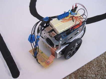 Boe Bot/Arduino line following robot   Arduino Focus   Scoop.it