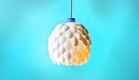 Fabriquer une lampe avec des cuill?res en plastique R?cup ...