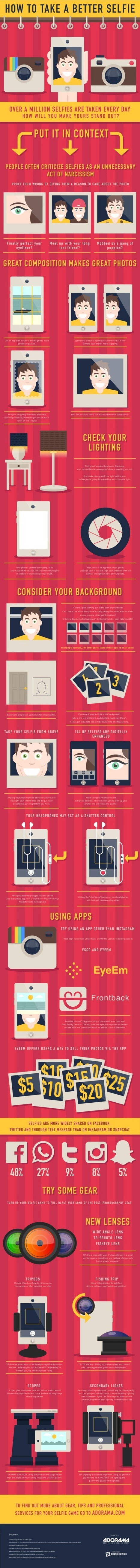 How To Take The Perfect Selfie; Tips From The Pros (Infographic) | Fotografía y sólo fotografía | Scoop.it