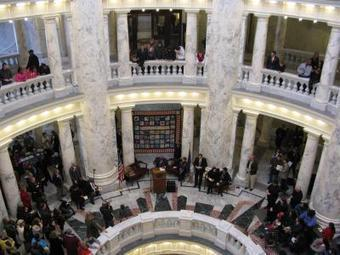Trumpets resound, crowd fills rotunda for MLK Day commemoration... | James & Mary | Scoop.it