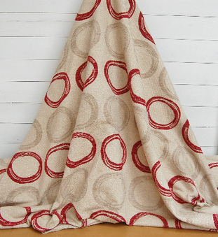 WHOLE ROLL DEAL 17.5 M'S Modern chenille jacquard for soft furnishings & upholstery in cream & sherbert red. 74 INCH WIDE | Welcome to Discount Fabrics Lincs | Scoop.it