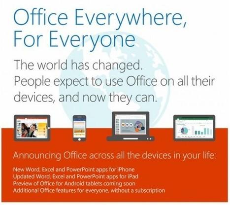 Microsoft lanza Word, Excel y PowerPoint gratis para móviles   Programes, aparells, manuals,...   Scoop.it