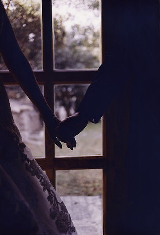 Wedding couple bride groom holding hands analogue film photograph by edwardolive | Bodas | Scoop.it