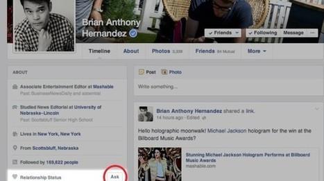Facebook: arriva Ask, per scoprire la situazione sentimentale dei propri amici - Wired | Social Media Marketing | Scoop.it