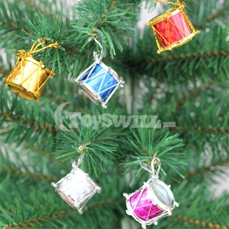 Online Shopping Vintage Decorations: Christmas Tree Drum Decorations Type K (12pcs)   vintage christmas tree decorations   Scoop.it