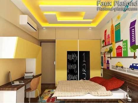 Déco maison Faux plafond chambre enfants | Faux plafond en forme d'un papillon | Scoop.it