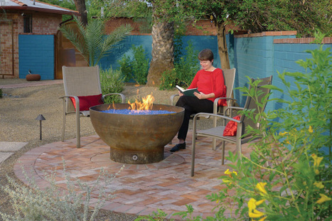 Fire pit is a recycled propane tank | Upcycled Garden Style | Scoop.it