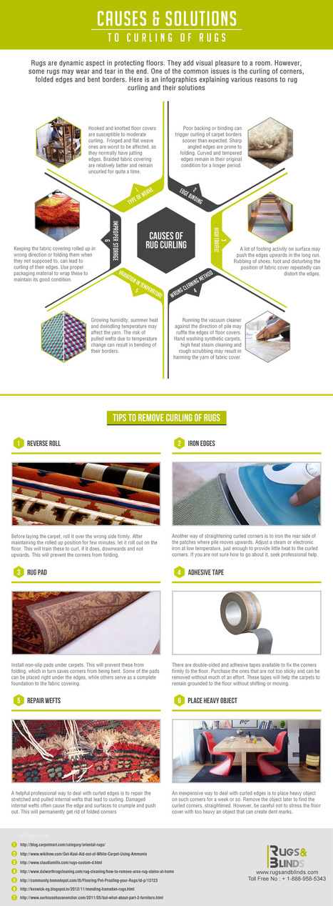 Causes and Solutions to Curling of Rugs | Infographics | Scoop.it