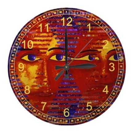 Conundrum III - Abstract Purple & Orange Goddess Wall Clocks from Zazzle.com | Fine Art to Love | Scoop.it