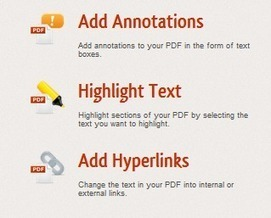A Great Free Tool to Easily Annotate and Highlight PDF content | English Classes | Scoop.it