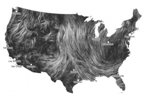 Cartography love: Wind Map | The Pixellogo Blog: Graphic Design ... | cartography & mapping | Scoop.it