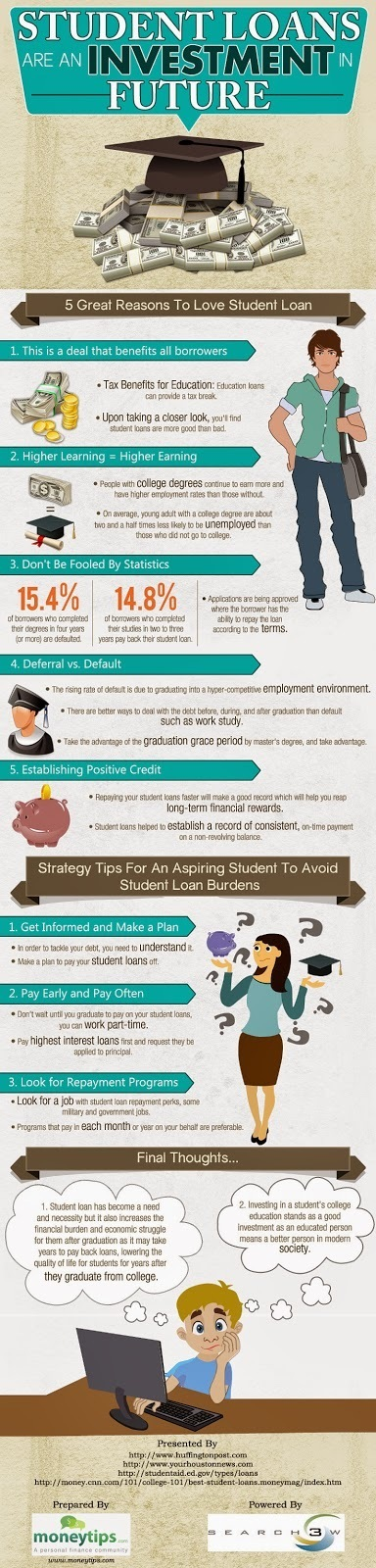 Students Loan Are An Investment In Future | moneytips | Scoop.it