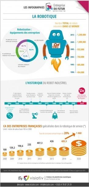 Infographie : La robotisation, quelle réalité dans le monde de l'entreprise ? | Le journal de l'éco | SI mon projet TIC | Scoop.it