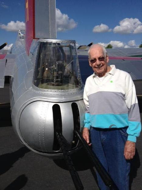 "In honor of D-Day June 6th 1944 My Dad with  the B-17 ""Flying Fortress"" that he use to be the ""tail gunner in"" 