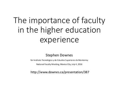 The importance of faculty in the higher education experience | Wiki_Universe | Scoop.it