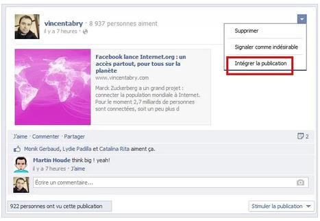 Comment intégrer une publication Facebook sur un blog ? Fastoche ! | Infos pros btob & boites à outils de Paxs Conseil | Scoop.it