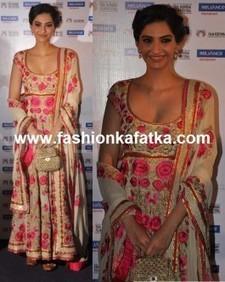 Sonam Kapoor Floral Anarkali   Fashion   Scoop.it