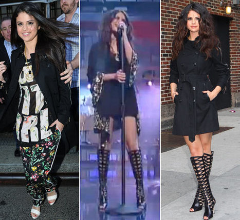 Selena Gomez Shows Off Sexy Boots On David Letterman: See Her Looks - TV Balla | GAMB MEDIAS | Scoop.it