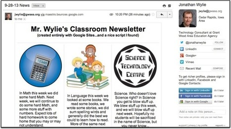 Create Great HTML Classroom Newsletters for FREE with Google Sites | Going Digital | Scoop.it
