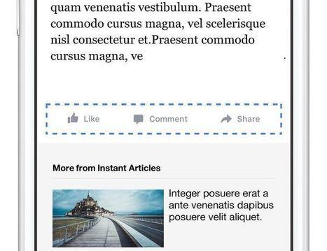 Facebook Instant Articles permet d'interagir avec les contenus | Chiffres et infographies | Scoop.it