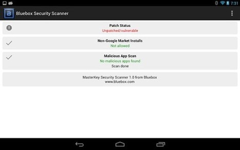 Check if your Android phone is patched against the 'Master Key' exploit with this app | Stuff that Tweaks | Scoop.it
