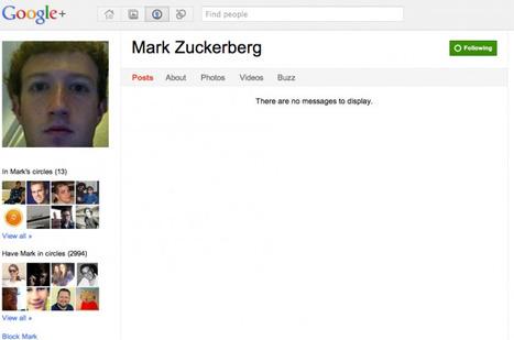 Mark Zuckerberg est sur… Google+ ! | Le Journal du Geek | Actualités Web et Réseaux Sociaux | Scoop.it